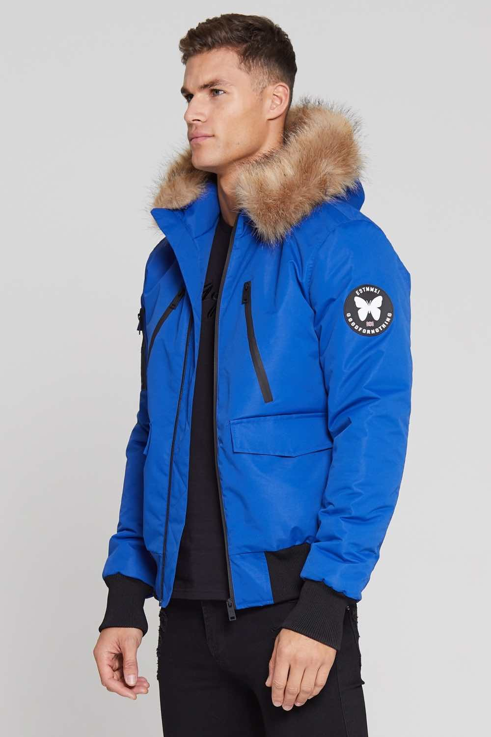 Good For Nothing Glacier Bomber Parka - Blue - 2