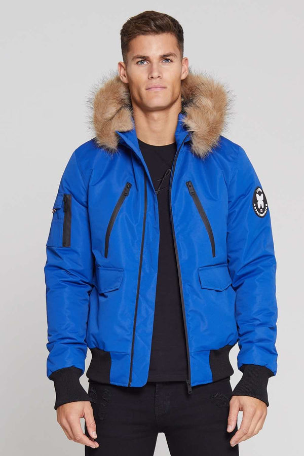 Good For Nothing Glacier Bomber Parka - Blue - 1