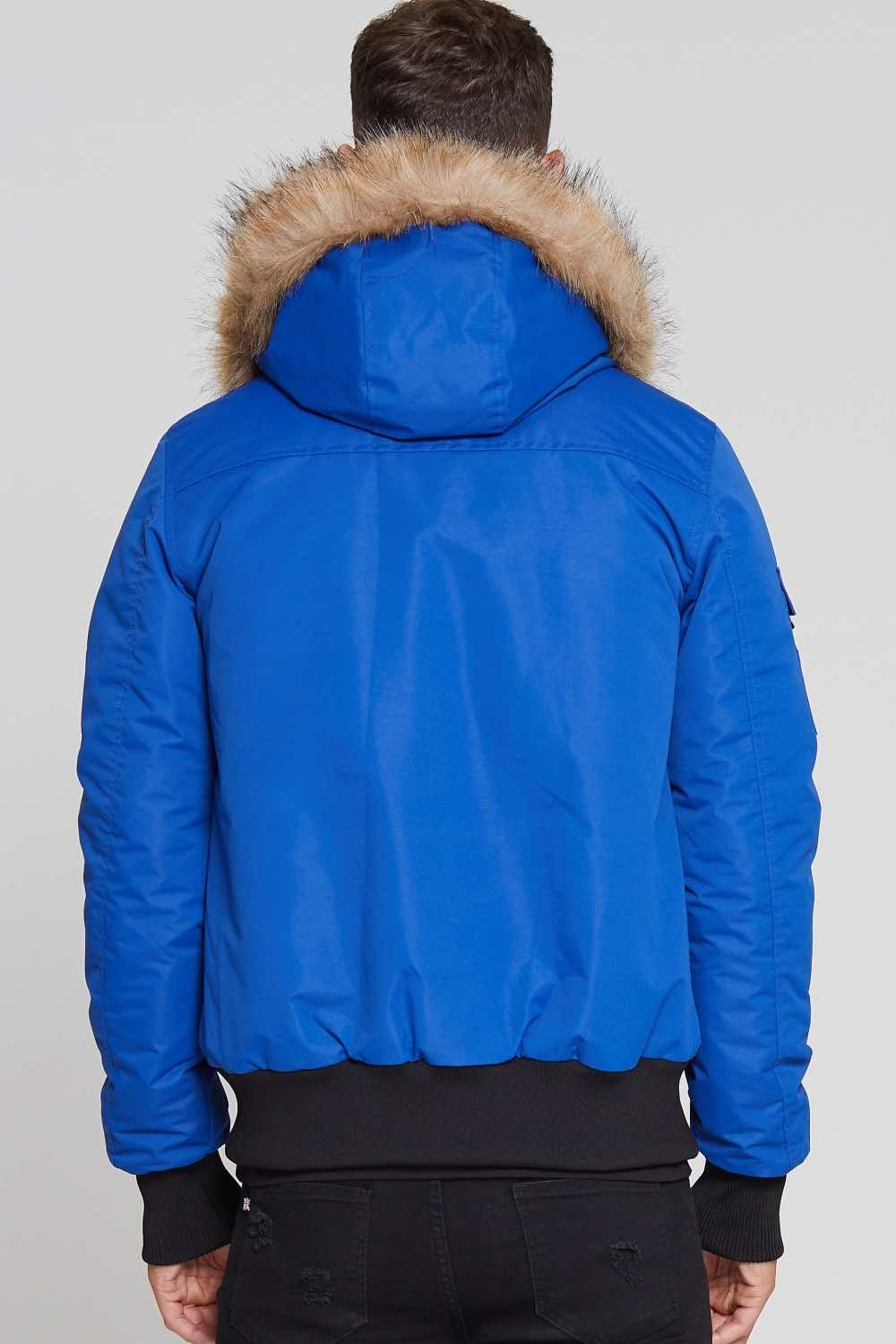 Good For Nothing Glacier Bomber Parka - Blue - 3