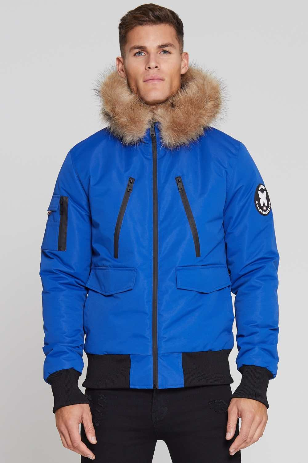 Good For Nothing Glacier Bomber Parka - Blue