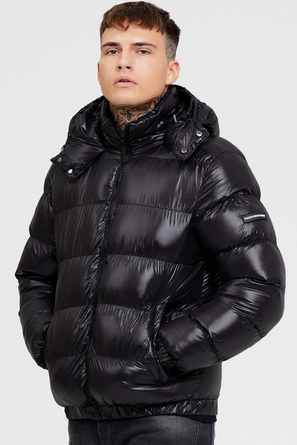 Good For Nothing Cyclone Puffer Jacket - Black