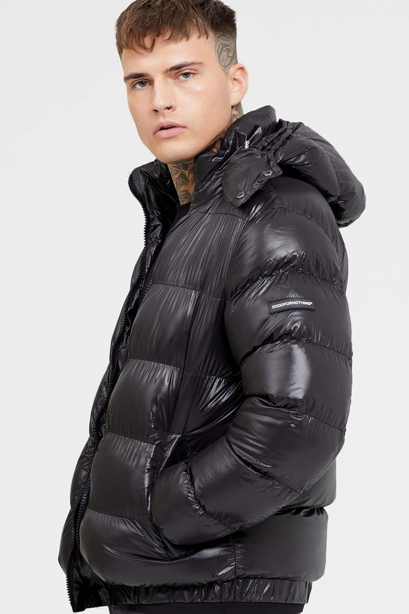 Good For Nothing Cyclone Puffer Jacket - Black - 2