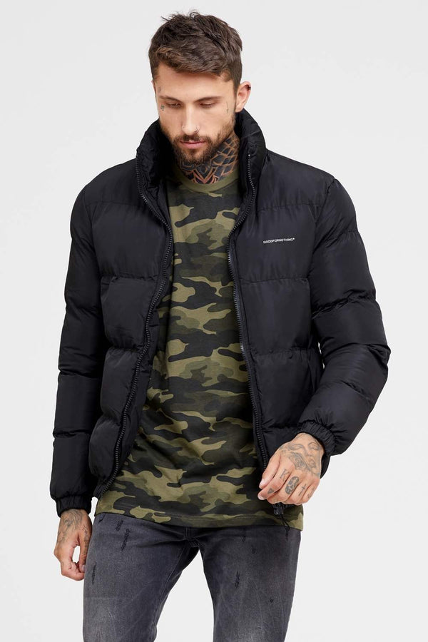 Good For Nothing Road Puffer Jacket - Black - 1