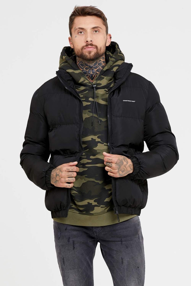 Good For Nothing Road Puffer Jacket - Black - 2