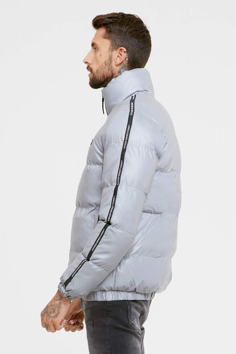Good For Nothing Reflective Road Puffer Jacket - Grey - 3