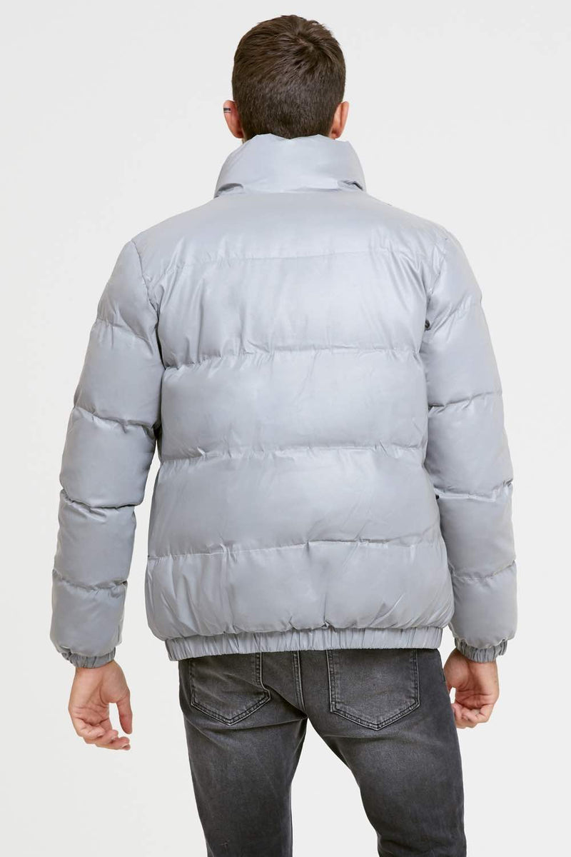 Good For Nothing Reflective Road Puffer Jacket - Grey - 4