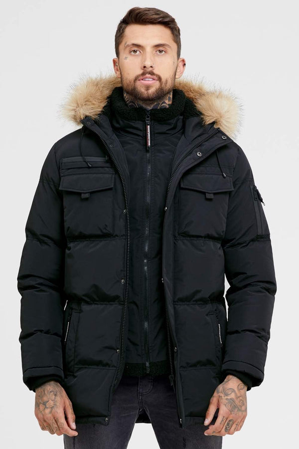 Good For Nothing Double Layered Parka - Black