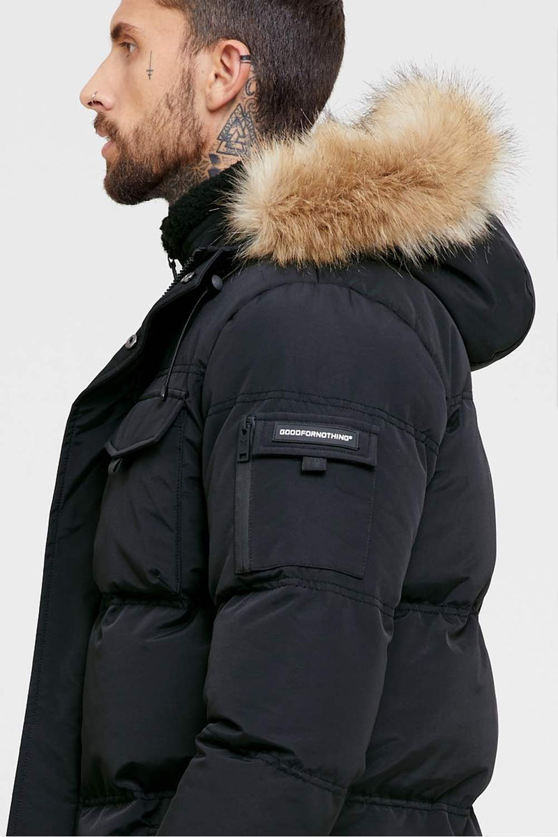 Good For Nothing Double Layered Parka - Black - 2