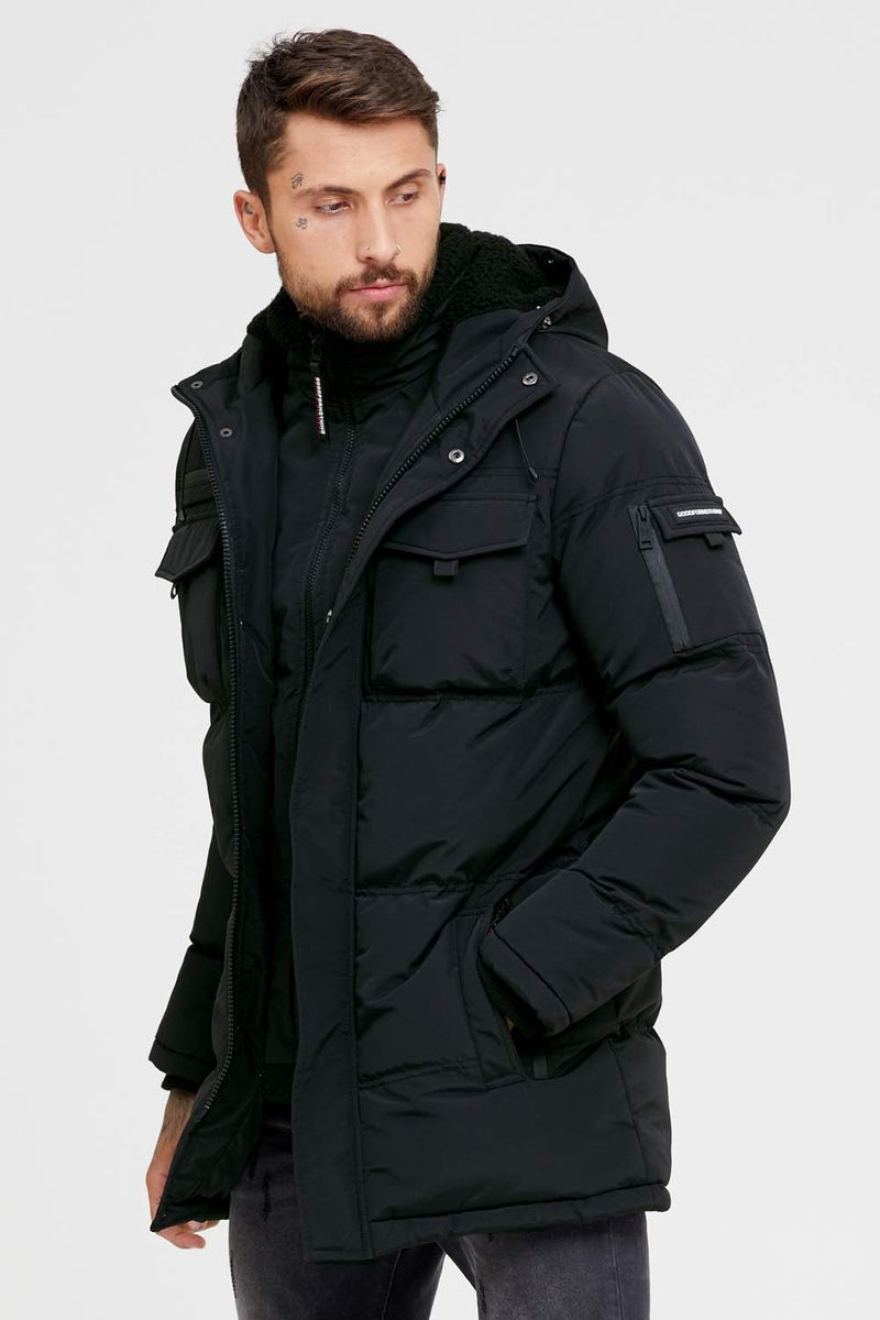 Good For Nothing Double Layered Parka - Black - 1