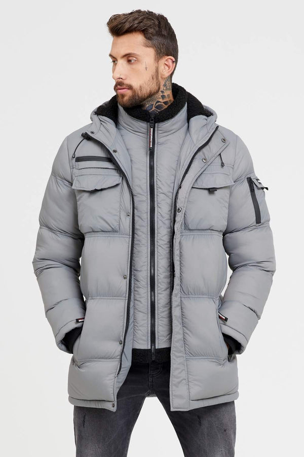 Good For Nothing Double Layered Parka - Steel Grey