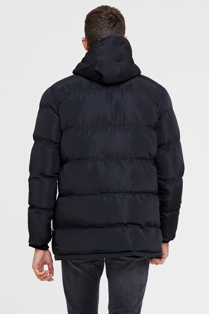 Good For Nothing Technical Long Puffer Jacket - Black - 2
