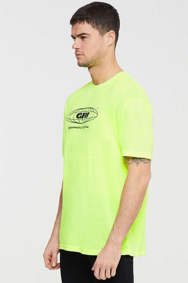 Good For Nothing Oversized Global T-shirt - Neon - 2
