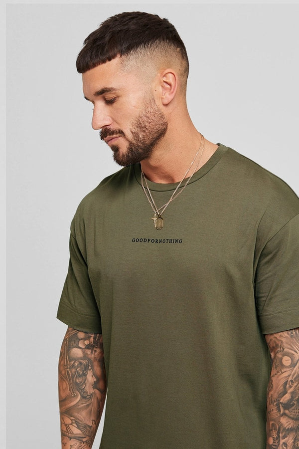 Good For Nothing Oversized Surge Tee - Khaki - 1