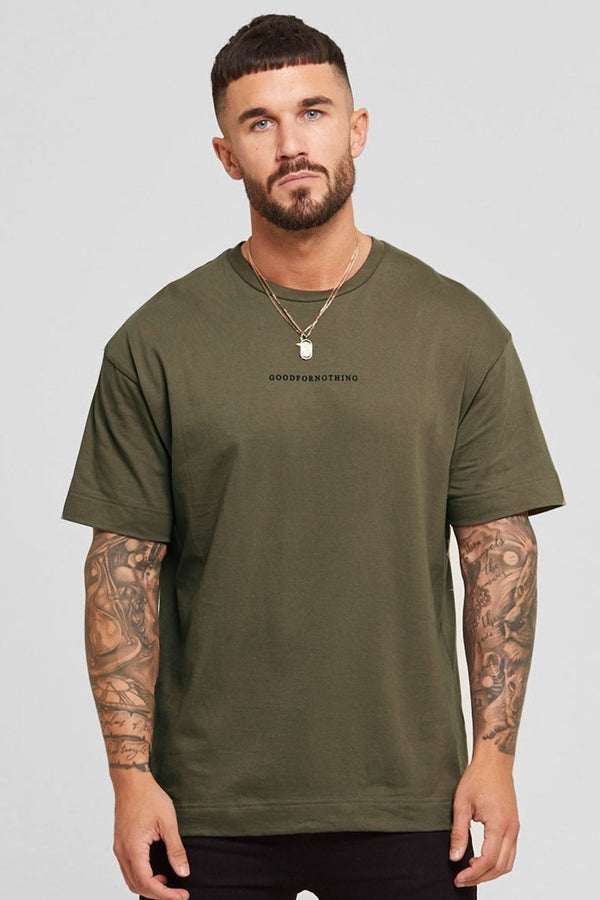 Good For Nothing Oversized Surge Tee - Khaki