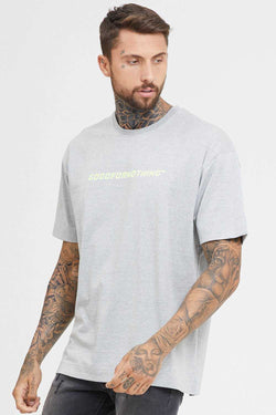 Good For Nothing Oversized Technical T-Shirt - Grey