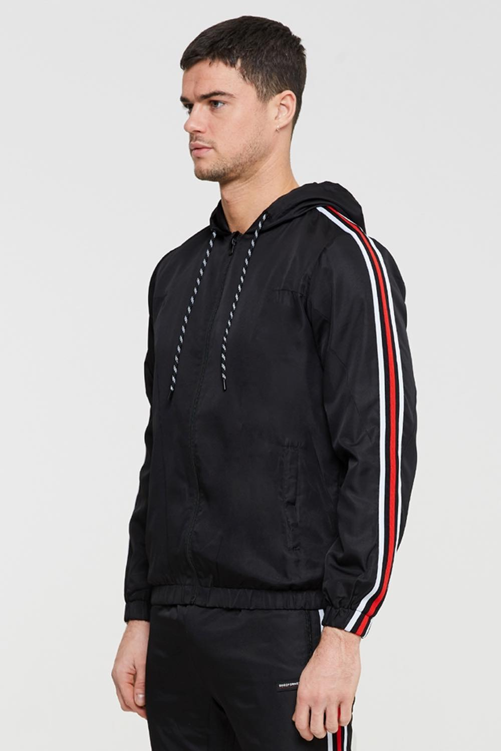 Good For Nothing Scope Tape Track Jacket - Black - 1