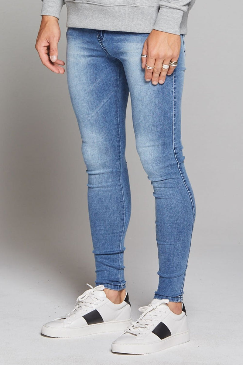 Good For Nothing Skinny Non-Ripped Jeans - Blue - 1