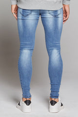 Good For Nothing Skinny Non-Ripped Jeans - Blue - 3