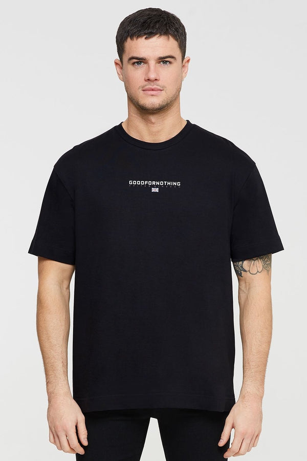 Good For Nothing Tech Oversized T-shirt - Black
