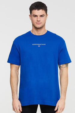 Good For Nothing Tech Oversized T-shirt - Blue - 1