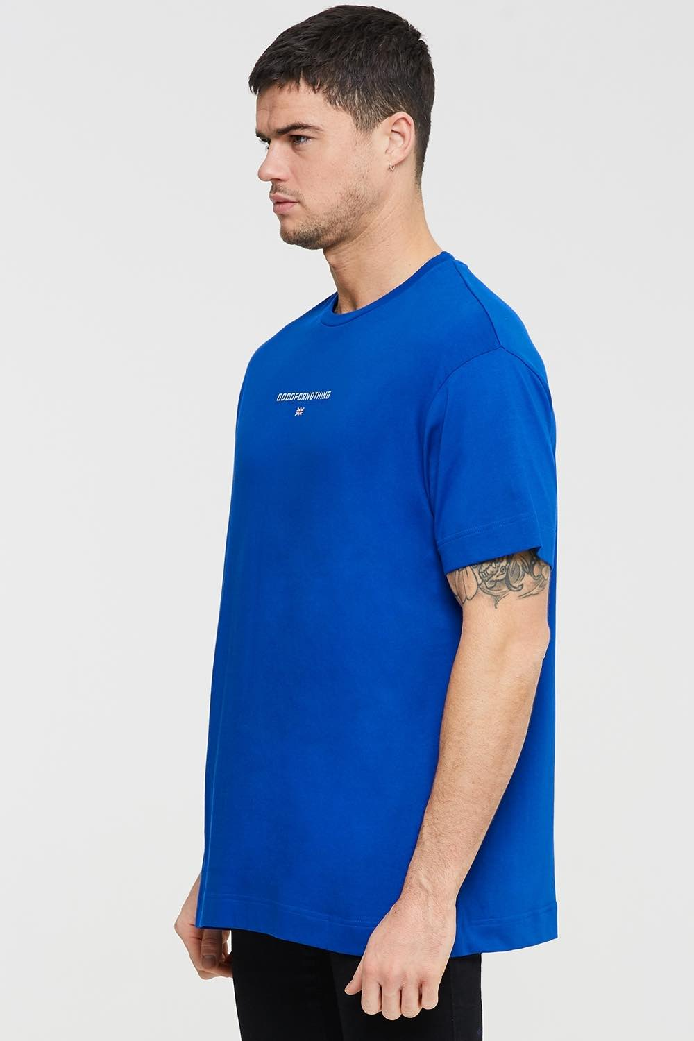 Good For Nothing Tech Oversized T-shirt - Blue - 2