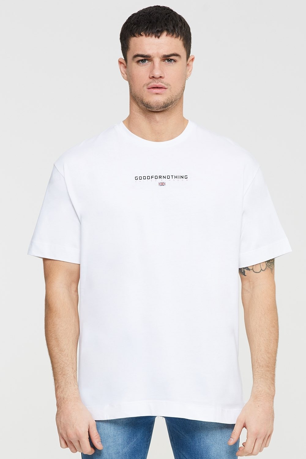 Good For Nothing Tech Oversized T-shirt - White