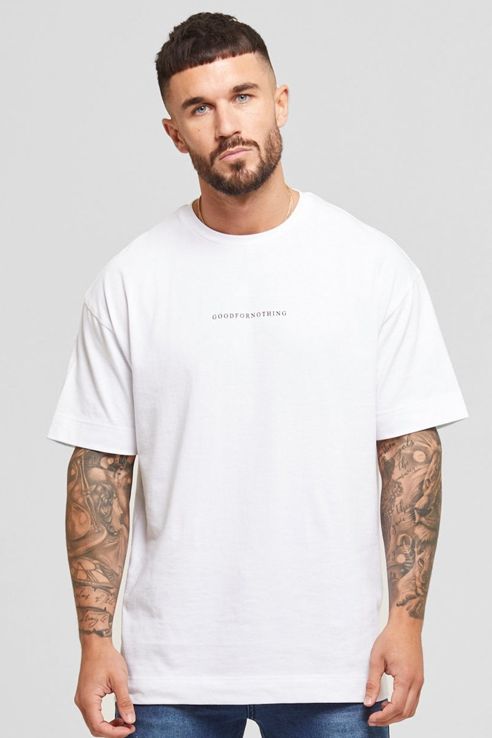 Good For Nothing Oversized Surge Tee - White