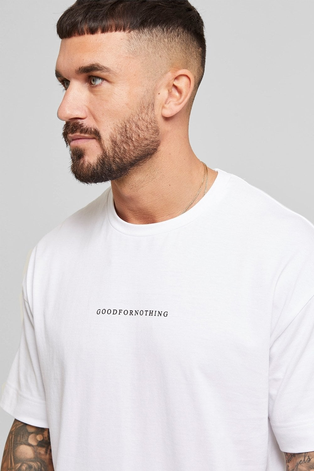 Good For Nothing Oversized Surge Tee - White - 1