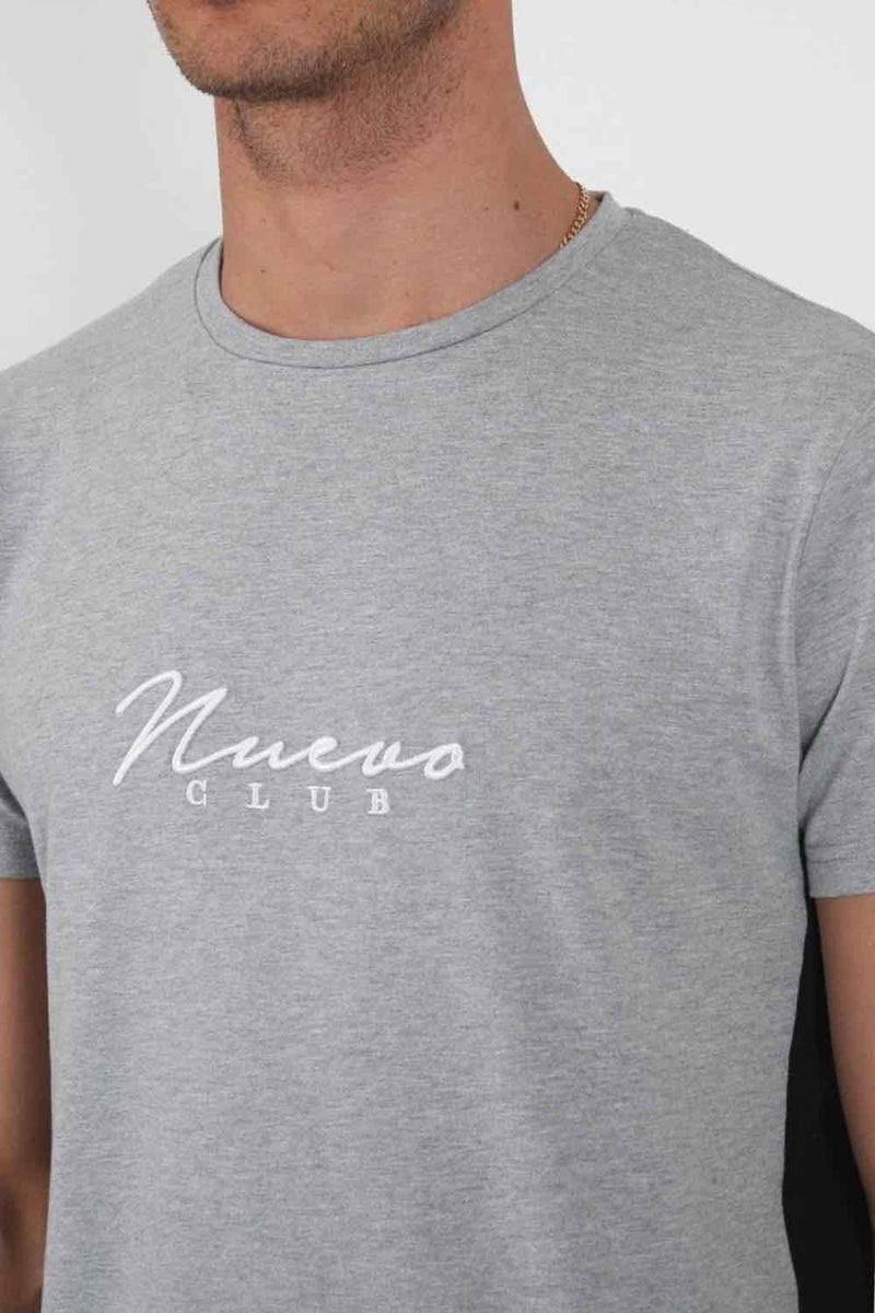 Nuevo Club Panel T-Shirt - Grey/Black - 1