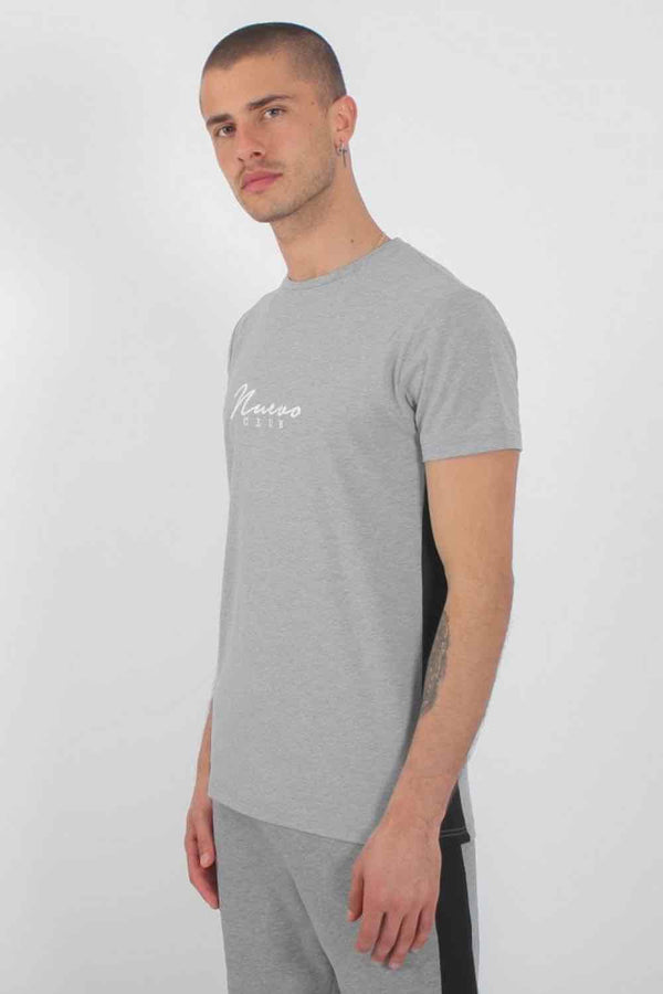 Nuevo Club Panel T-Shirt - Grey/Black