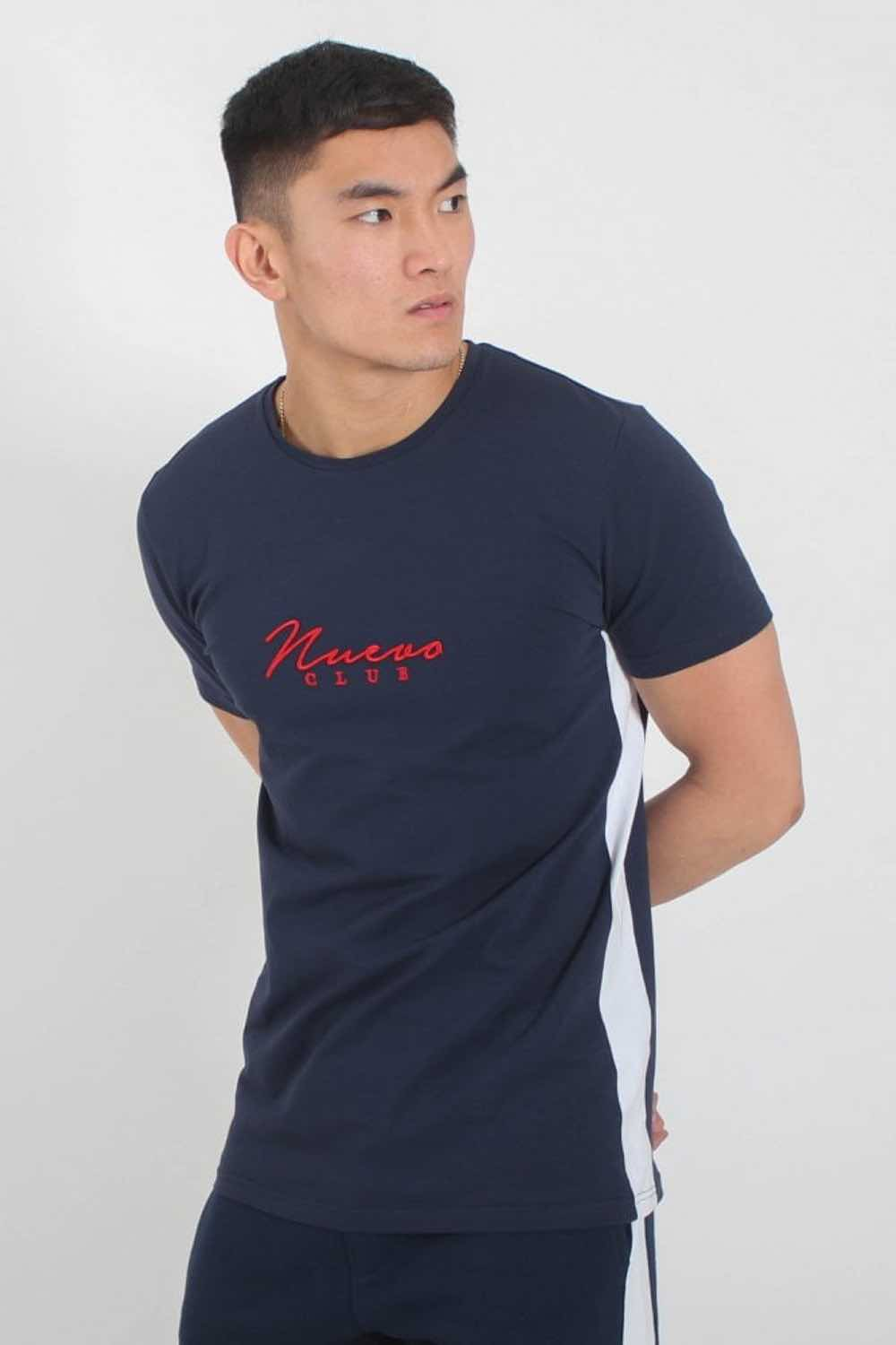 Nuevo Club Panel T-Shirt - Navy/White - 2