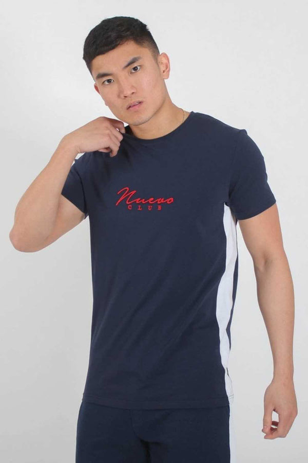 Nuevo Club Panel T-Shirt - Navy/White