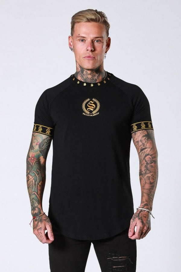 Sinners Attire Crest T-Shirt - Black