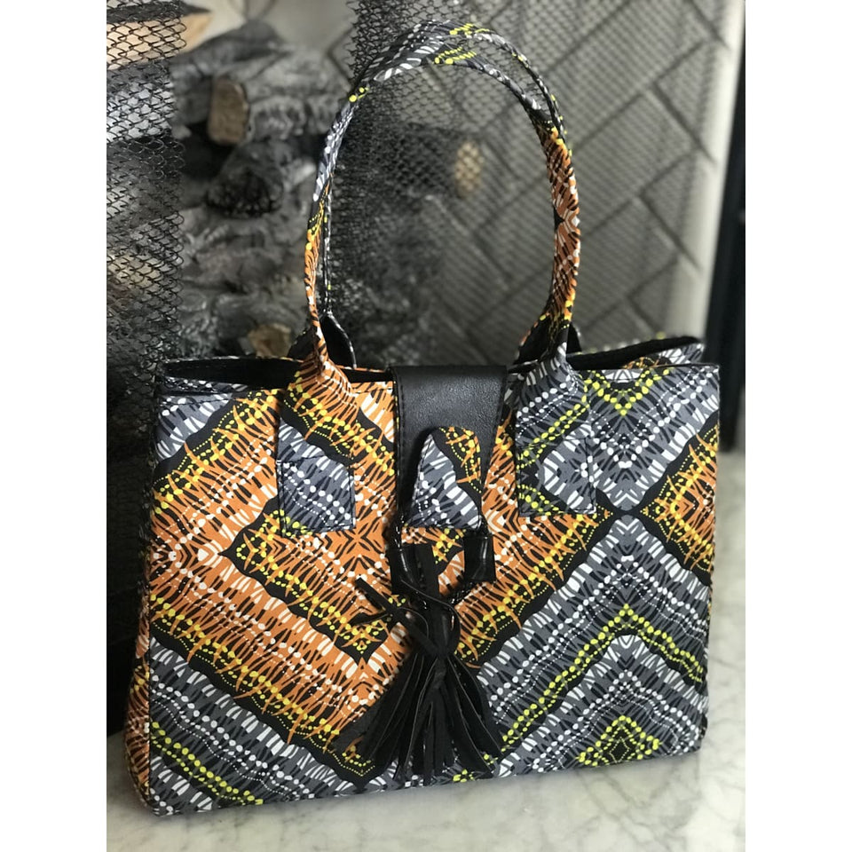 Ankara Locket Bag - Geo Pattern