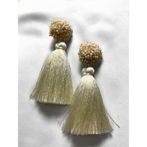 Bloom Tassel Earrings - Ivory