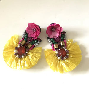 Cabana Rafia Earrings