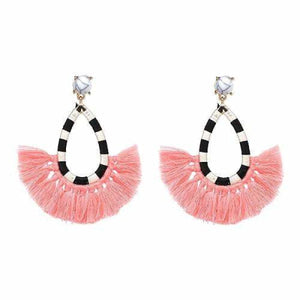 Day Party Tassel Earrings - pink 1