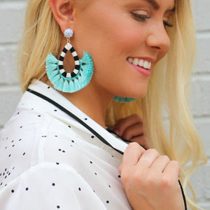 Day Party Tassel Earrings - light blue 1