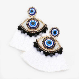 Evil Eye Fly Earrings