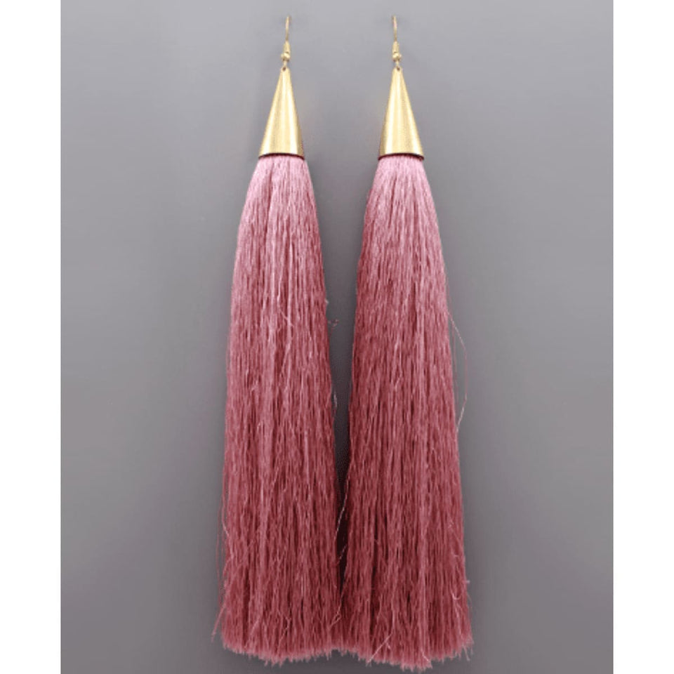 Heiress Tassel Earrings - Rose