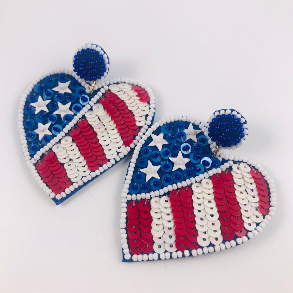 Freedom Heart Earrings
