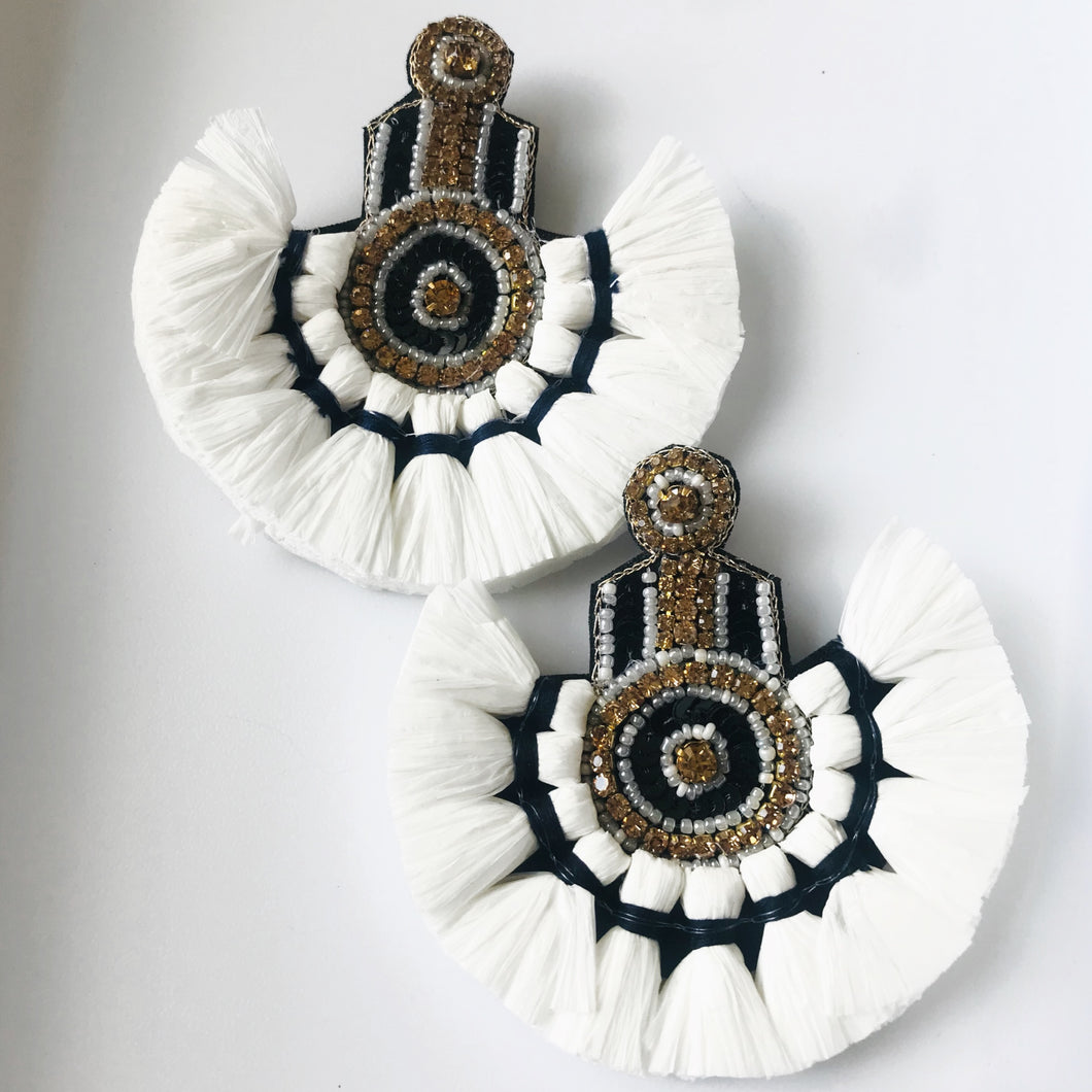 Showtime Raffia Earrings