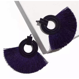 Kimma Fan Fringe Earrings