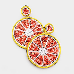 Ruby Red Grapefruit Earrings