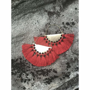 Sydney Earrings (Large) - Red