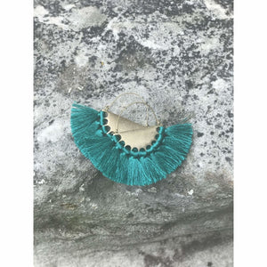 Sydney Earrings (Large) - Teal