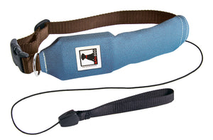 Blue | Release N Run Dog Collar with Retractable Leash Built-In