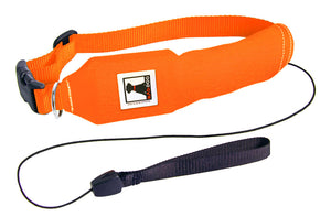 Orange | Release N Run Dog Collar with Retractable Leash Built-In