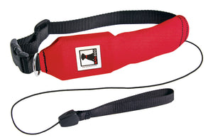Red | Release N Run Dog Collar with Retractable Leash Built-In