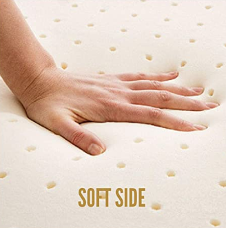 "Dual Firmness: Soft and Firm Organic Latex Mattress Topper, 2"" Inch and 3"" Inch [GOLS Certified] - Organic Textiles"
